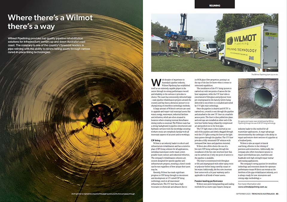 Wilmot Pipelining Article